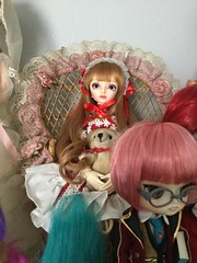 Sora in Her Throne (Josie&theKILLER_DOLLS) Tags: volks super dollfie cute sora bjd ball jointed doll dal