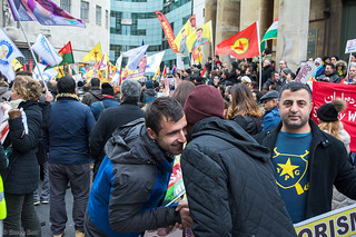 Defend Afrin Demonstration at BBC London