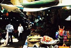 Market jumble (Stephen Dowling) Tags: 35mm film belomosiluetelektro india mysore market kodake100vs travel sovietcamera