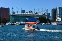 BC Place Stadium - The Vancouver Aquabus/False Creek (SonjaPetersonPh♡tography) Tags: vancouver bc britishcolumbia canada nikon nikond5200 falsecreek falsecreekferries scienceworld scienceworldattelusworldofscience telusworldofscience downtownvancouver vancouverskyline cityscape burrardinlet granvilleisland boating kayaking city citycentre tourists