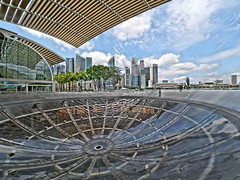 Surrounding Singapore (SGarriott) Tags: sgarriott scottgarriott olympus omd em5ii singapore asia orient urban city skyline buildings reflections 714mmf28 wideangle marinabaysands