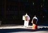 Japan- Suwa- shintoist temple (venturidonatella) Tags: japan giappone asia suwa temple tempio scintoismo shintoism monks nuns monaci monaca monaco monache persone people gentes colori colors ombra luce light shadow nikon nikond500 d500 ritratto portrait cesto gerla