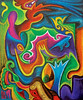 Birth Canal (MattCrux) Tags: psychedelic lsdtrip acid abstract trippy colorful rainbow lsd strange weird drug drugs weed high trip love acrylic painting acrylicpainting traditional canvas paint painted artist drawing illustration art arts expressive different beautiful artsy creativity creative