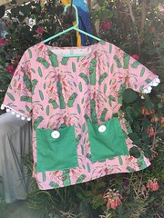 This top pattern is available here:  https://sproutpatterns.com/projects/gargoylesentry-lottie-shirt-sage-exploding-pickle-lottie-shirt-by-amy_g-and-gargoylesentry-272667 (sassyone2013) Tags: pink green pickle pickles food sandwich sandwiches fantasy quirky weird foodfabric foodfabrics noveltyfabric noveltyfabrics fabric wallpaper giftwrap giftwrapping sew sewing quilting quilts fabrics indieart indiedesign homesewing textileart fatquarter fatquarters indiefabric indiefabrics coolclothes garmentsewing hamburger hamburgers hotdog frenchfries