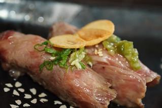 wagyu beef sushi