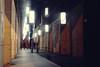Temple of wisdom (No_Mosquito) Tags: city night lights urban people perspective architecture vienna university street reflection canon powershot g7xmarkii austria dark