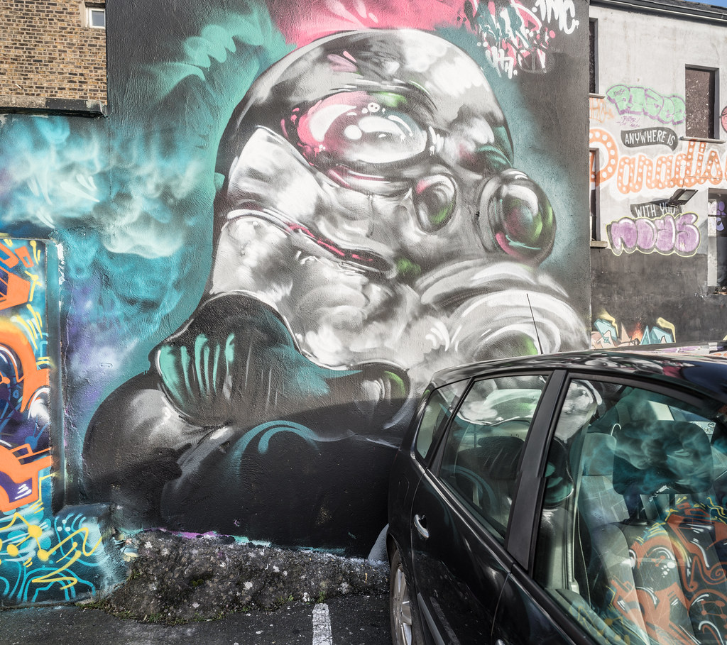 STREET ART AT THE TIVOLI CAR PARK IN DUBLIN [LAST CHANCE BEFORE THE SITE IS REDEVELOPED]-135600