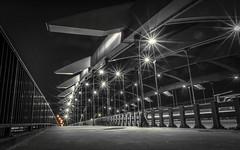 Bridge (Raphael Images) Tags: bridge night long exposure black white lights shadows composition nikon d5300