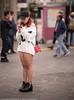 Oblivious (Pexpix) Tags: female phone girl legs candid dof street lady leg woman hongkong kowloon hk 攝影發燒友