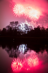 Explosive Reflection (Max' Photos) Tags: dresden germany night water reflection fire fireworks light river tree pyrogames