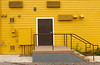 Well Vented (arbyreed) Tags: arbyreed yellow golden building alley thingsseeninalleys stairs vents ventalated meridian adacountyidaho back door bright colorful vividcolors