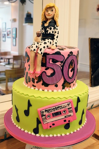 80s Theme Cassette Birthday Cake