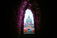Through the Aventine Keyhole (Jack R. Seikaly Photography) Tags: through aventine keyhole rome malta vatican city st peter peters basilica leading line infrared ir multicolor jack seikaly jrseikaly photography
