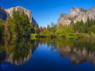 Yosemite Reflections Blue and Green