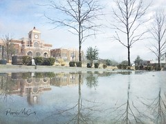 Lewisville City Hall puddle shot. Explored 2-18-18 (peppermcc) Tags: cityhall puddlepic puddleshots puddles reflections reflection stackablesapp stackables iphoneography iphonephoto iphone texas lewisville