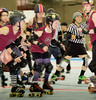 067 (Bawdy Czech) Tags: lcrd lava city roller dolls cinder kittens cherry bomb brawlers skate rollerskate bout bend oregon or february 2018 juniorderby juniors rollerderby lavacityrollerdolls