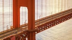 Structure SF (Rich Lonardo Photo) Tags: sanfrancisco tiltshift focus bridge red goldengate goldengatebridge car cars driving structure architecture bayarea california