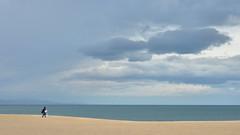 barceloneta beach (poludziber1) Tags: skyline sky sea city colorful color colorfull clouds beach barcellona spain people travel water