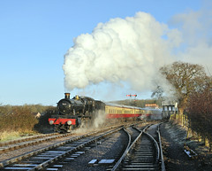 7822 Foxcote Manor leaving  Bishops Lydeard. (johncheckley) Tags: d90 uksteam loco train railway manor
