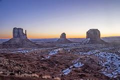 Three Buttes sunrise (Daniel Schwabe) Tags: monumentvalley sunrise snow desert rock landscape arizona usa travel tourism