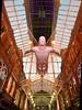 2018.01.19 - VQ Flying Man 2 (kampalakid63) Tags: 20mm d810 nikon architecture flyingman yorkshire westyorkshire shoppingcentre retail art sculpture hammerson victoriaquarter vq leeds