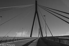 Köhlbrand Brücke (Bridge) (vmonk65) Tags: hafen hafenhamburg hamburg harbour himmel nikon nikond810 sky wasser linien lines brücke bridge köhlbrandbrücke