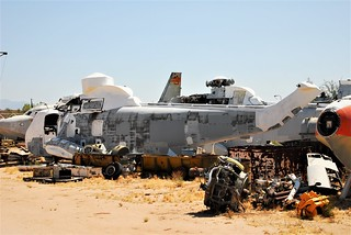SH-3H Sea-King 152104 ex U.S.Navy. (Identified by AMARG inventory number 9H042).  Seen stored with Specialized Aircraft Maintenance, Tucson, Arizona. 04-06-2016.