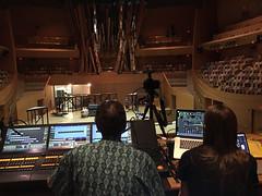 Set-up is happening! (Tero Saarinen Company Photostream) Tags: setup tscontwocontinents tscinla waltdisneyconcerthall wdch mikkikunttu terosaarinencompany zimmermanntrio laphil