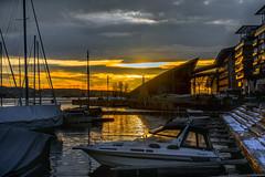 Sunset in Oslo, Norway (Ingunn Eriksen) Tags: sunset oslo oslofiord oslofjorden norway akerbrygge tjuvholmen marina akermarina nikond750 nikon