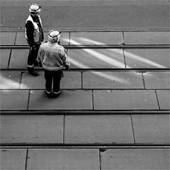 Vorhut (ZaglFoto.de) Tags: bnw bnwhallesaale bnwstreet bnwstreetphoto bnwstreetphotographer bnwstreetphotography de deutschland fotowalk halle hallesaale sachsenanhalt stadtlandschaft street streetphoto streetphotographer streetphotography urban gssunderconstruction