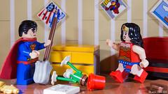 The superhero couple's life (black.zack00) Tags: comics dccomics superman wonderwoman woman toy lego funny couple afol