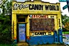 No more Candy, ugh! (Explore!) (SCOTTS WORLD) Tags: adventure abandoned america architecture sky sign detroit digital decay dilapidated detail 313 exploring exploration empty entrance yellow blue brick building blight michigan motown midwest motorcity city crusty candy store door windows weathered panasonic pov perspective urban usa unitedstates urbex urbanexploring urbandecay fun fall october 2017