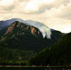 Smoke Show (chloe.askin) Tags: smoke forestfire britishcolumbia christinalake mountains adventure explore color colour nature summer lake trees