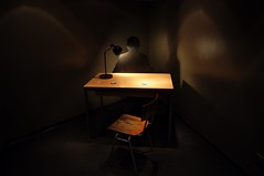 Interrogation room (Pictures in my head) Tags: berlin germany visit country city trip with friends students university history enjoy great time museum ddr interrogation room cold war dark light photography discover pièce