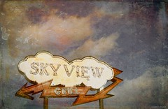 Sky View Grill....HSS!!! (Joe Hengel) Tags: skyviewgrill akronpa akron pennsylvania pa sign texture hss happyslidersunday slidersunday sunday clouds