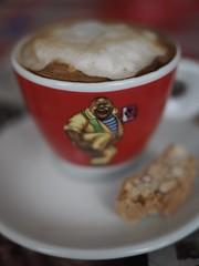 Time for a cup of coffee (alterahorn) Tags: penf olympuspenf mzuiko olympus50mmf12 olympus50mm olympus closeup lucaffé caffè espresso cappuccino