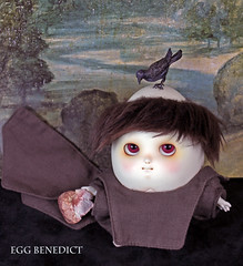Saintly (bentwhisker) Tags: doll bjd resin anthro egg soom neoangelregion humptydumpty raven stbenedict 3383a