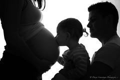 Sisters forever (Danny Lamontagne) Tags: pregnant enceinte baby bébé sister soeur noiretblanc blackorwhite blackwhite