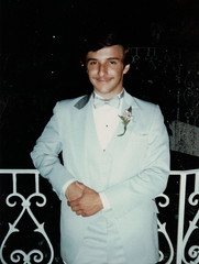 Ted in Prom Attire (Mr.TinDC) Tags: scanned me ted mrt mrtindc 1980s prom suit longisland