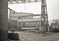 Trams for scrap (Lost-Albion) Tags: sheffield tram scrapyard twward 1960