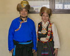 Mr. Tsewang Dorjee and Mrs. Tseten Dolma. (Tenzin Samphel) Tags: tibet traditional chupa students srongtsen school beautyoftibet colorsoftibet kathmandu nepal whitewednesday womenempowerment futureisfemale tenzinsamphelphotography