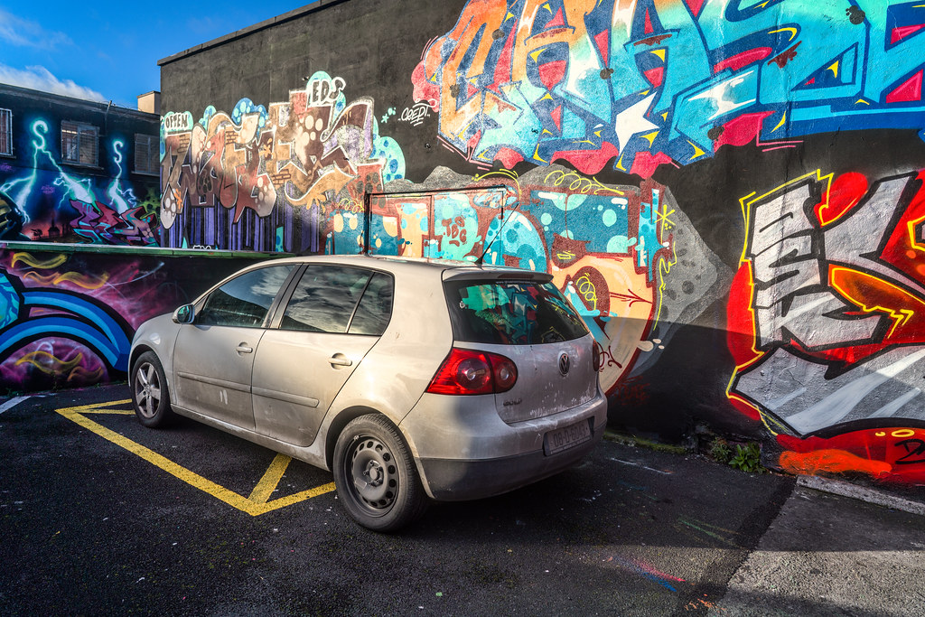 STREET ART AT THE TIVOLI CAR PARK IN DUBLIN [LAST CHANCE BEFORE THE SITE IS REDEVELOPED]-135651