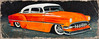 Low n' Slow series 1 of 3...1953 Chevy (Lino M) Tags: lino martins painting acrylic car chevy 1953 orange white paint custom low stance