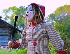 Emerald Kelley --- The Clockwork Clown (forestforthetress) Tags: clown fun entertainment woman outdoor color omot nikon lincolnlogcabin festival