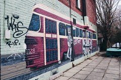 No. 1 : Waiting for the 501 (hellotinashe) Tags: streetcar ttc transit graffiti toronto canada