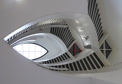 Chicago, Museum of Contemporary Art (MCA), Stairway Atrium (Mary Warren 10.5+ Million Views) Tags: chicago museumofcontemporaryart mca architecture museum building atrium stairs staircase skylight abstract lines curves
