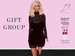 Treze Gift Group (trezedesigns) Tags: free gift group dress desings secondlife slink belleza maitreya tmp treze ebody tonic fine curvy
