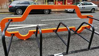 45 Church Street - Cornwall Street orange bike rack - Colmore Business District