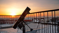 DSC_6850 (kirill.jankowsky) Tags: telescope sunset monn eclipse before tokina 2880mm omsk омск на крыше плантерия planetarium roof