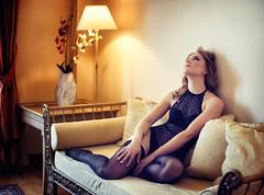 Anna (Pablo Cañas) Tags: model modeling modelingfashion modelo sensual sexy sensuality sensualidad light lighting lingerie lámpara sofá medias body boudoir boudoirphotography modelinfashion